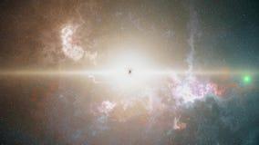 Big Bang ursprunget av det svarta hålet, ljus futuristisk sammansättning arkivfilmer