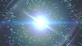 Big Bang-Verwezenlijking op zwarte stock illustratie