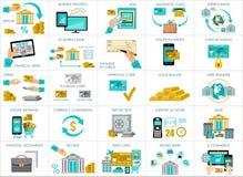 Big bank set. vector Stock Photos