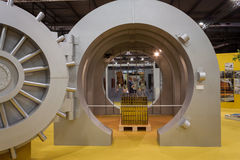 Big bank vault at Made expo 2013 in Milan, Italy Stock Photo