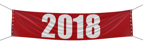 Big 2018 Banner Stock Images