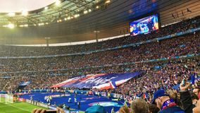 Big Banner France Stadium Football Fans Supporter Royalty Free Stock Photography