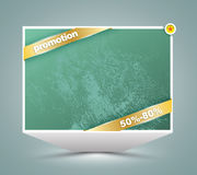 Big banner with gold ribbon. Stock Image