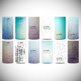 Big banners set, science backgrounds, microchip Stock Images