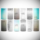 Big banners set, science backgrounds, microchip Stock Image