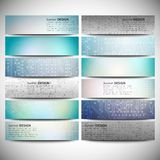 Big banners set, science backgrounds, microchip Royalty Free Stock Photography