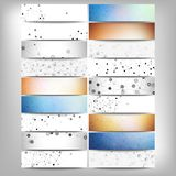 Big banners set, science backgrounds, molecule and Stock Photo