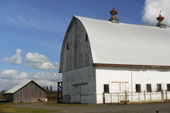 Big Barn, Little Barn Stock Photo