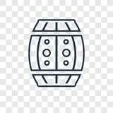 Big Barrel concept vector linear icon isolated on transparent ba. Ckground, Big Barrel concept transparency concept in outline style stock illustration