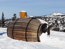 The big  barrel at mountain top Stock Image