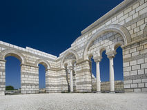 Big Basilica in Pliska. Royalty Free Stock Photos
