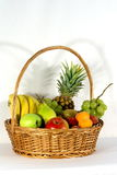 Big basket portrait Royalty Free Stock Photography