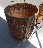 Big basket for tea picking royalty free stock images