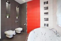 Big bathroom with tube Stock Photo