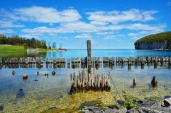 Big Bay De Noc, Garten, Michigan lizenzfreie stockfotografie