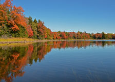 Big Bay fall reflections Royalty Free Stock Image