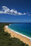 Big Beach, Oneloa Beach, south Maui, Hawaii, USA. Big Beach or Oneloa Beach in south Maui, Hawaii, USA Stock Image
