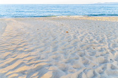 Big beach sea with sky background. Close Stock Photo