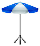 A big beach umbrella Royalty Free Stock Photos