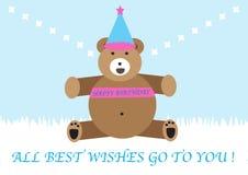 Big bear happy birthday Royalty Free Stock Photos