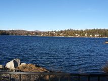 Big bear lake calm water nice day royalty free stock photos