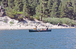 Big Bear Lake:  Canoeing Royalty Free Stock Photography
