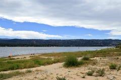 Big Bear lake. Early morning at Big Bear Lake, Big bear California Stock Image