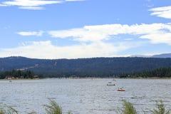Big Bear lake. Early morning at Big Bear Lake, Big bear California Stock Images