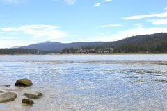 Big Bear lake. Early morning at Big Bear Lake, Big bear California Royalty Free Stock Photo