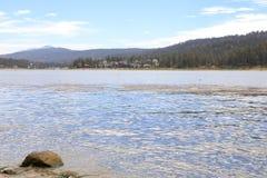 Big Bear lake. Early morning at Big Bear Lake, Big bear California Stock Photos