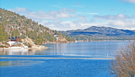 Big Bear Lake: Lake In Winter Stock Images