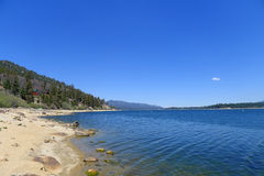 Big Bear Lake. Is a small city in San Bernardino County, California, located in the San Bernardino Mountains along the south shore of , and surrounded by the stock photography