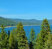 BIG BEAR LAKE ON A SUNNY DAY Royalty Free Stock Photo