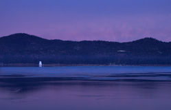 Big Bear Lake at Sunrise Stock Photo