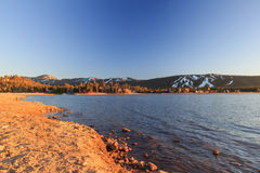 Big bear lake. At sunset time Stock Image