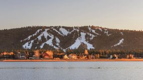 Big bear lake. At sunset time Stock Images