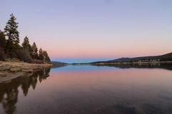 Big bear lake. At sunset time Royalty Free Stock Photography