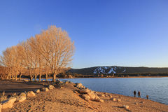 Big bear lake. Sunset view of Big bear lake, Los Angels County, California Stock Images