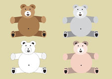 Big bear set Stock Photos