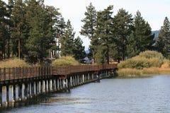 Big Bear sjö i Kalifornien Arkivbilder