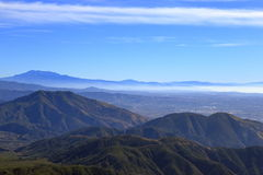 Big Bear. A view of big bear and San bernardino from Arrowhead Royalty Free Stock Images