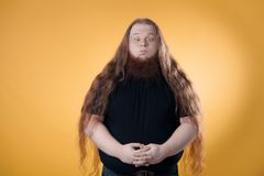 The big bearded red-haired man. royalty free stock photos