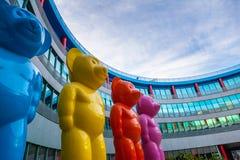 The Big Bears of Ifema, Madrid Royalty Free Stock Image