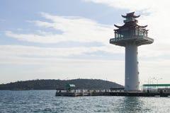 Big beautiful beacon. The big beautiful beacon gives signals to seamen Stock Images
