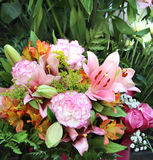 Big beautiful bouquet of flowers Royalty Free Stock Images