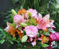 Big beautiful bouquet of flowers Royalty Free Stock Photos