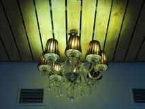 Big beautiful chandelier Stock Images