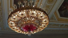 Big beautiful chandelier Royalty Free Stock Image