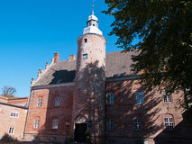 Big beautiful mansion house estate castle Denmark Stock Photos