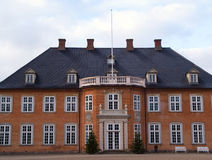 Big beautiful mansion house estate Denmark Royalty Free Stock Photos